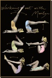 Marilyn Monroe (Working Out) Movie Poster Print Stretched Canvas Print