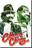 Cheech and Chong Pot Leaves Movie Poster Print Stretched Canvas Print