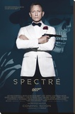James Bond- Spectre Skull Stretched Canvas Print