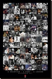 Muhammad Ali - Montage Stretched Canvas Print