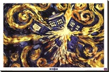 Doctor Who - Exploding Tardis Stretched Canvas Print