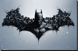 Batman Origins - Arkham Bats Stretched Canvas Print