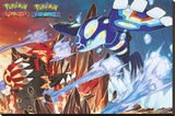 Pokemon- Groudon & Kyogre Stretched Canvas Print
