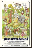 Alice in Wonderland Retro Adult Movie Poster Stretched Canvas Print