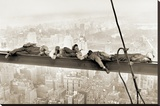 Men on Girder, 1930 Stretched Canvas Print
