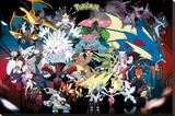 Pokemon Mega Stretched Canvas Print
