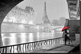Paris - Eiffel Tower Kiss Stretched Canvas Print