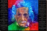 David Glover- As Quoted By Einstein Lærredstryk på blindramme af David Glover