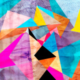 Abstract Watercolor Geometric Background Prints by  tanor27
