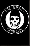 The Misfits - Fiend Club Stretched Canvas Print