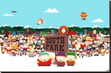 South Park Cast Stretched Canvas Print