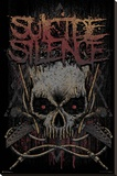 Suicide Silence- Gothic Jolly Rodger Stretched Canvas Print