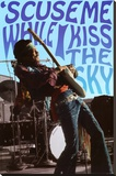 Jimi Hendrix - 'Scuse Me While I Kiss the Sky Stretched Canvas Print