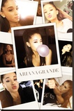 Ariana Grande- Selfies Collage Stretched Canvas Print