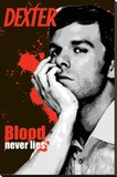 Dexter - Blood Never Lies Stretched Canvas Print