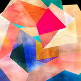 Abstract Watercolor Geometric Background Poster by  tanor27