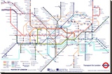 London Underground Map Stretched Canvas Print