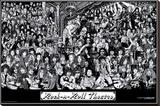 Rock & Roll Theatre Toile tendue sur châssis par Howard Teman