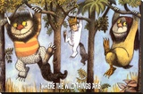 Where The Wild Things Are - Hanging From Trees Stretched Canvas Print by Maurice Sendak