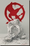 Hunger Games- Snowfall Stretched Canvas Print