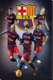 Barcelona- Star Players Stretched Canvas Print