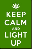 Keep Calm and Light Up Stretched Canvas Print