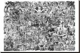 Alice i Eventyrland, på engelsk Lærredstryk på blindramme