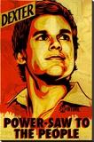 Dexter Sträckt Canvastryck av Shepard Fairey