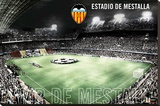 Valencia CF-Estadio de Mestalla Stretched Canvas Print