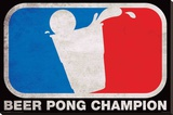 Beer Pong Champion Poster Opspændt lærredstryk