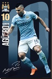 Man City- Aguero 15/16 Stretched Canvas Print