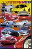 Supertuned (Race Cars) Art Poster Print Toile tendue sur châssis