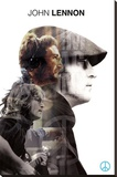 John Lennon- Double Exposure Stretched Canvas Print