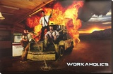 Workaholics - Gas Station Stretched Canvas Print