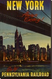 New York by Pennsylvania Railroad Stretched Canvas Print