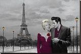 Paris Poster Stretched Canvas Print by Chris Consani