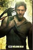 Daryl Dixon Walking Dead Television Poster Stretched Canvas Print