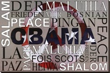 Barack Obama Peace Art Print Poster Stretched Canvas Print