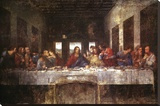 The Last Supper, c. 1498 Stretched Canvas Print by  Leonardo da Vinci