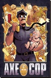 Axe Cop Cover Cartoon Poster Stretched Canvas Print