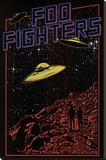 Foo Fighters- UFO Stretched Canvas Print