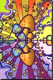 Psychedelic Mushroom Art Poster Print Stretched Canvas Print
