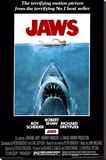 Jaws Stretched Canvas Print
