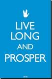 Star Trek - Live long & Prosper Stretched Canvas Print