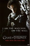 Game of Thrones - Jon Snow - Watcher Stretched Canvas Print