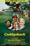 Caddyshack Movie Chevy Chase Bill Murray Group Vintage Poster Print Reproducción de lámina sobre lienzo