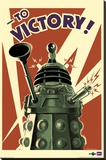 Doctor Who - Dalek to Victory Stretched Canvas Print