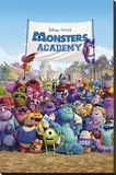 Monsters University (Academy) Stretched Canvas Print