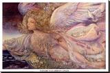 Josephine Wall - Natures Guardian Angel - Şasili Gerilmiş Tuvale Reprodüksiyon