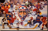 Eyes Of Hockey Stretched Canvas Print by Clement Micarelli